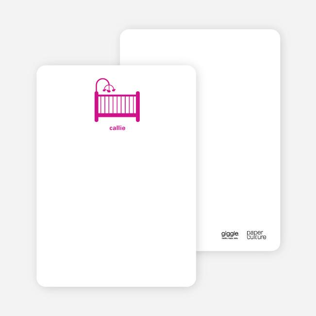 Stationery: 'Shhh! Baby's Sleepin' cards. - Magenta