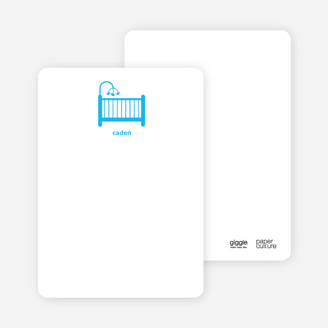 Stationery: 'Shhh! Baby's Sleepin' cards. - Royal Blue