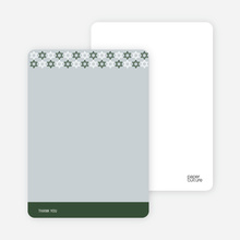 Stationery: 'Star of David Pattern' cards. - Forest Green