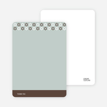 Stationery: 'Star of David Pattern' cards. - Chocolate