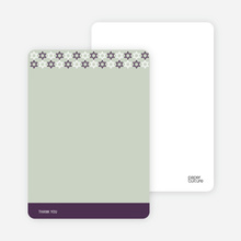 Stationery: 'Star of David Pattern' cards. - Eggplant