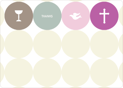 Stationery: 'Symbols of Communion' cards. - Purple