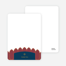 Synagogue Bar and Bat Mitzvah Notecards - Burgundy