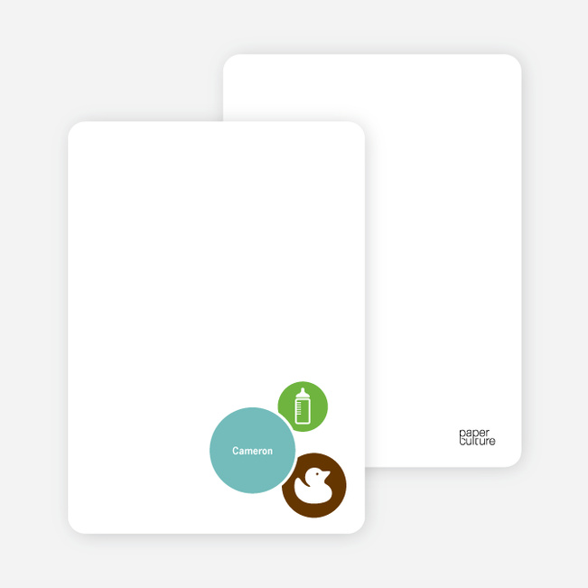 Stationery: 'The Cute Duckling' cards. - Kelly Green