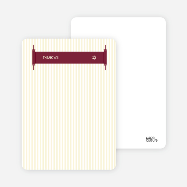 Stationery: 'Torah Torah' cards. - Maroon