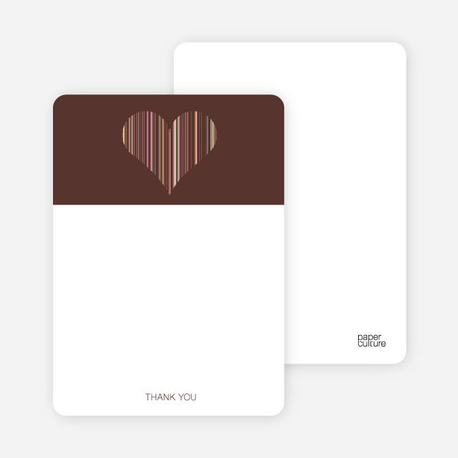 Stationery: 'True Love Bridal Shower' cards. - Chocolate Brown