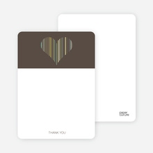 True Love Bridal Shower Note Cards - Charcoal