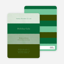 Stripe Swatch Holiday Invitations - Pine