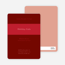 Stripe Swatch Holiday Invitations - Cherry