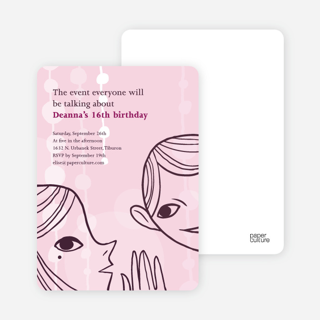 Surprise Party Invitations - Pink Blush