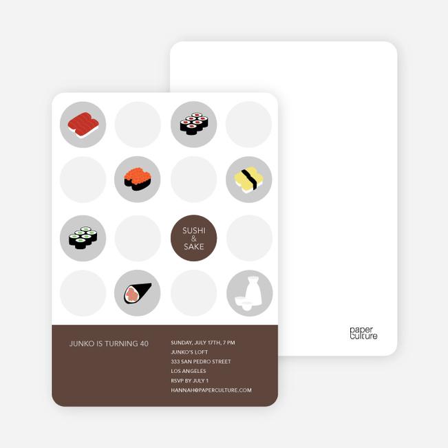 Sushi Celebration Card - Mocha