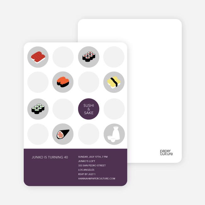 Sushi Celebration Card - Dark Purple
