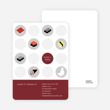 Sushi Celebration Card - Dark Red