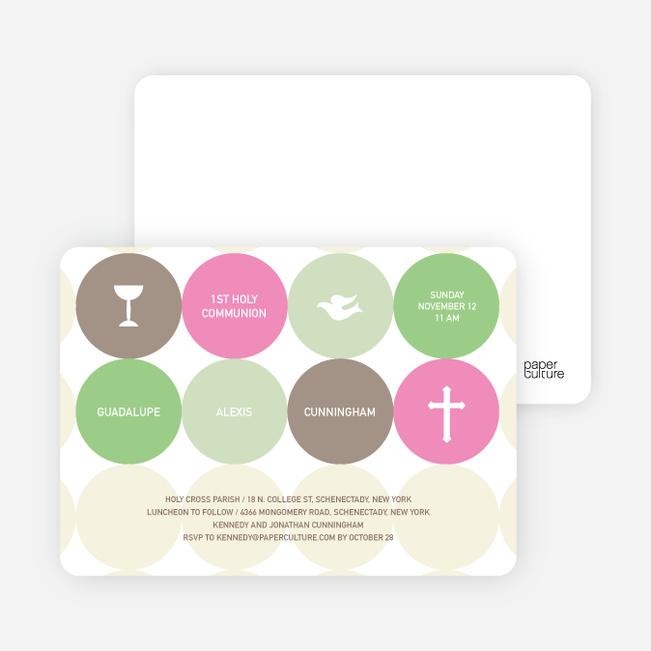 Symbols of Communion Invitations - Hot Pink