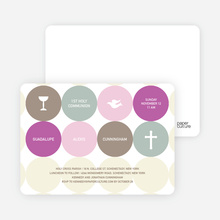 Symbols of Communion Invitations - Purple