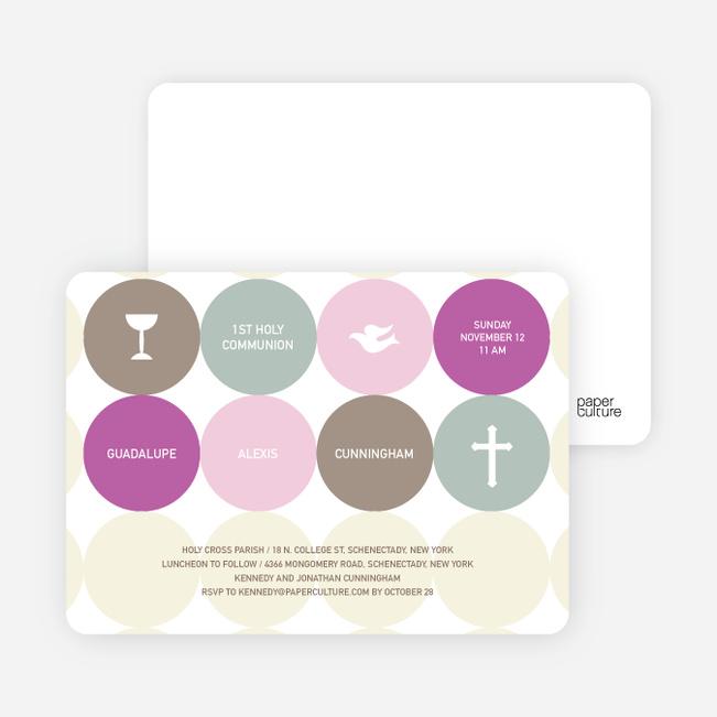 Symbols of Communion Invitations - Purple