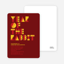 Year of the Rabbit Storyline - Orange Red