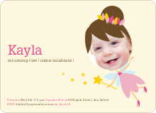 Fairy Princess Invites - Pink Fairy