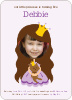 Little Princess Photo Card - Front View