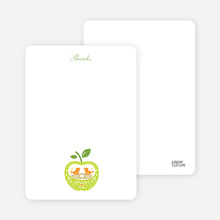 Thank You Card for Appleseed Bird Baby Shower Invitation - Chartreuse