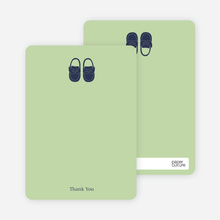 Baby's New Pair of Shoes: Thank You Cards - Celadon