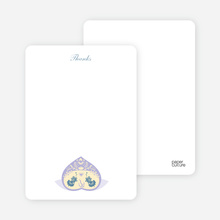 Peach Fish: Thank You Cards - Lavender