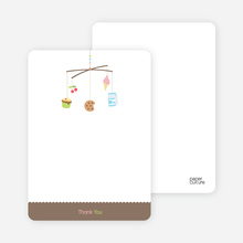 Food Cravings Mobile: Thank You Cards - Caf� Au Lait