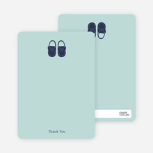 Baby's New Pair of Shoes: Thank You Cards - Seafoam