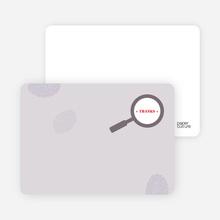 Thank You Card for I Spy You Modern Birthday Invitation - Plum