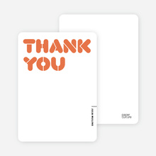 It's Party Time: Thank You Cards - Persimmon