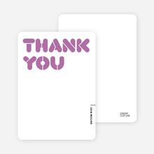 It's Party Time: Thank You Cards - Wisteria