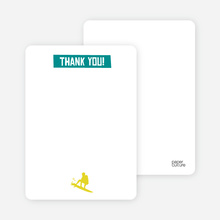 Let's Get this Party Started: Thank You Cards - Teal