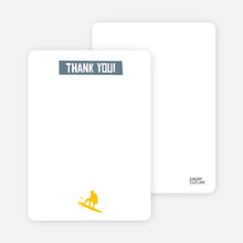 Let's Get this Party Started: Thank You Cards - Slate Grey