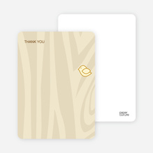 Nesting Bird: Thank You Cards - Lemon Chiffon