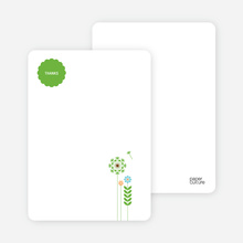 Spring Baby Shower: Thank You Cards - Shamrock