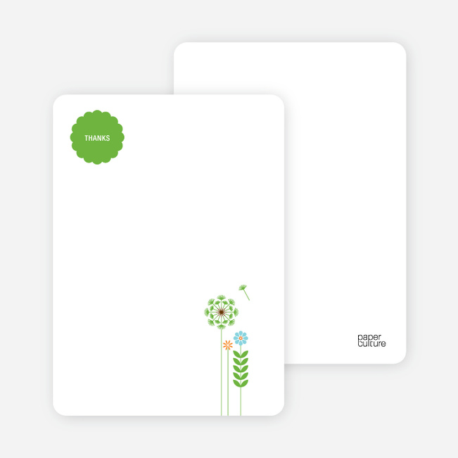 Thank You Card for Springtime Baby Shower Invitations - Shamrock