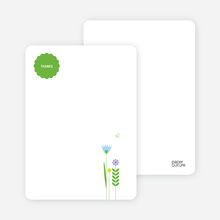 Spring Baby Shower: Thank You Cards - Baby Blue