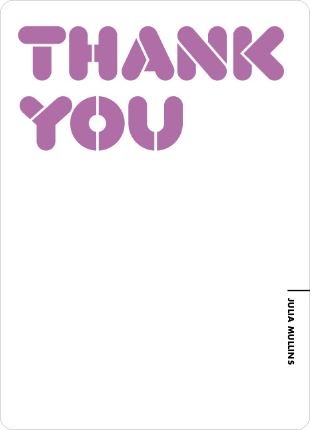 Thank You Card for It's Party Time Invitation - Wisteria