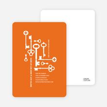 The Keys to Moving: Change of Address Cards - Caution Orange