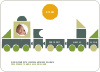 Train Baby Announcement - Olive Green