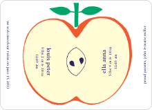 Appleseed Twins Baby Announcement - Cream