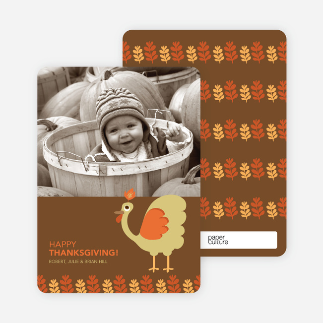 Thomas the Turkey Fall Photo Cards - Lemongrass