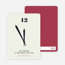 Tick Tock, the Time is Now New Year's Cards - Alabaster