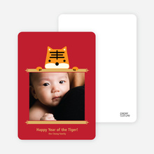 Tiger Scroll Photo Cards - Cantaloupe