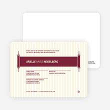 Torah Themed Bar and Bat Mitzvah Invitations - Maroon