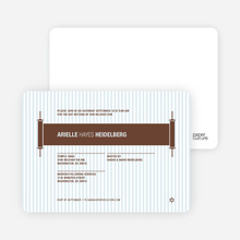 Torah Themed Bar and Bat Mitzvah Invitations - Chocolate