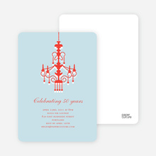 Traditionally Chic, Chandelier Party Invitations - Blue Submarine