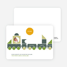 Choo Choo Train Arrival - Olive Green