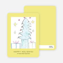 Tree of Hope J/P HRO Holiday Cards - Daffodil