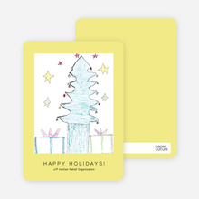 Tree of Hope J/P HRO Holiday Cards - Daffodil